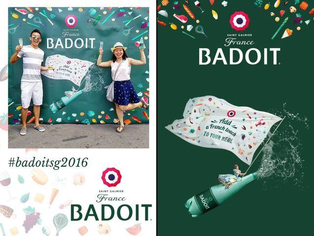 Badoit savour wine 2016 instagram printing singapore