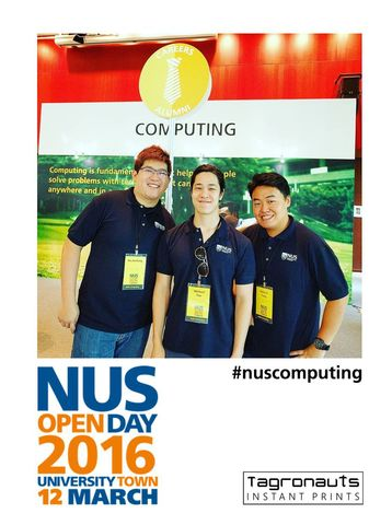 Nus computing open day 2016 instagram printing tagronauts