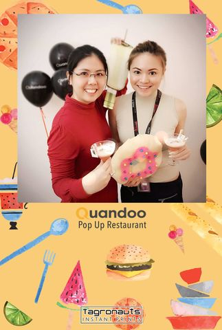 Quandoo turns two pop up restaurant instagram printing tagronauts