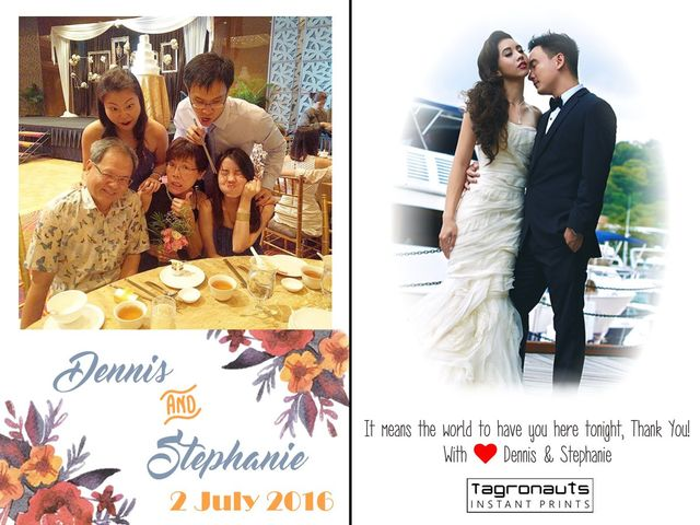 Dennis stephanie wedding instagram printing singapore tagronauts