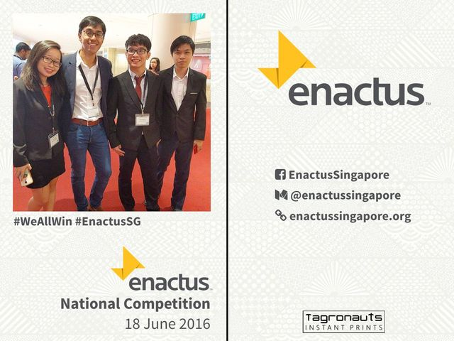 Enactus national competition 2016 instagram printing singapore