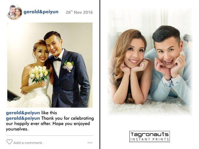 Gerald peiyun wedding singapore instagram printing tagronauts