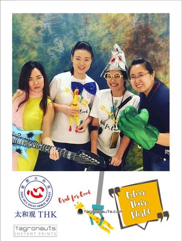 Thk colour their world roadshow instagram printing tagronauts singapore